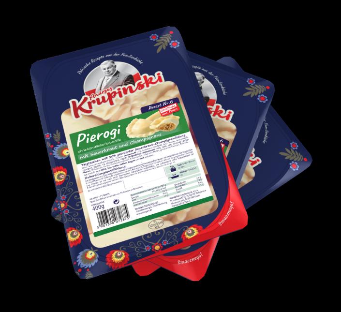 Piroggen mit Sauerkraut und Champignons